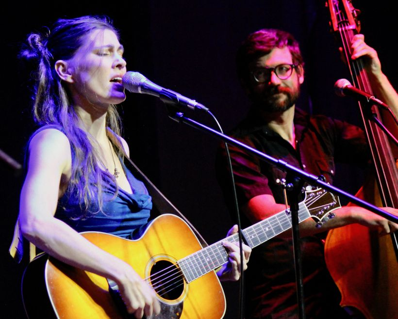 Ruth Moody (left) performs with Sam Howard during a show with her other band at Denver's Swallow Hill on June 23.
