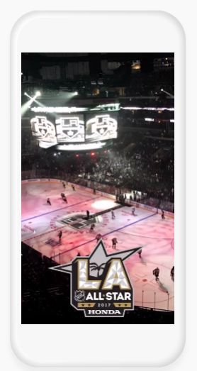 Honda offered a Snapchat geofilter during it's sponsorship of the NHL All-Star Game.