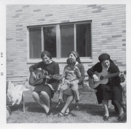 In the Novitiate, me on left with guitar