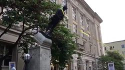 Demonstrators Pull Down Confederate Monument In