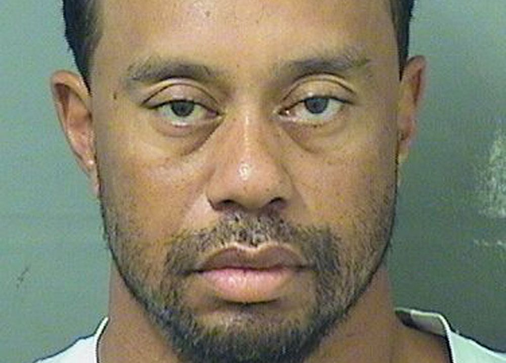 Tiger Woods, shown in this booking photo, had five different drugs in his system when police arrested him in May.