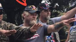 Nazi In Charlottesville Wearing 82nd Airborne Hat Gets Called