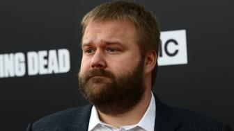 HOLLYWOOD, CA - OCTOBER 23:  Creator/writer Robert Kirkman  arrives for the AMC Presents Live, 90-Minute Special Edition Of 'Talking Dead' held at Hollywood Forever on October 23, 2016 in Hollywood, California.  (Photo by Albert L. Ortega/Getty Images)