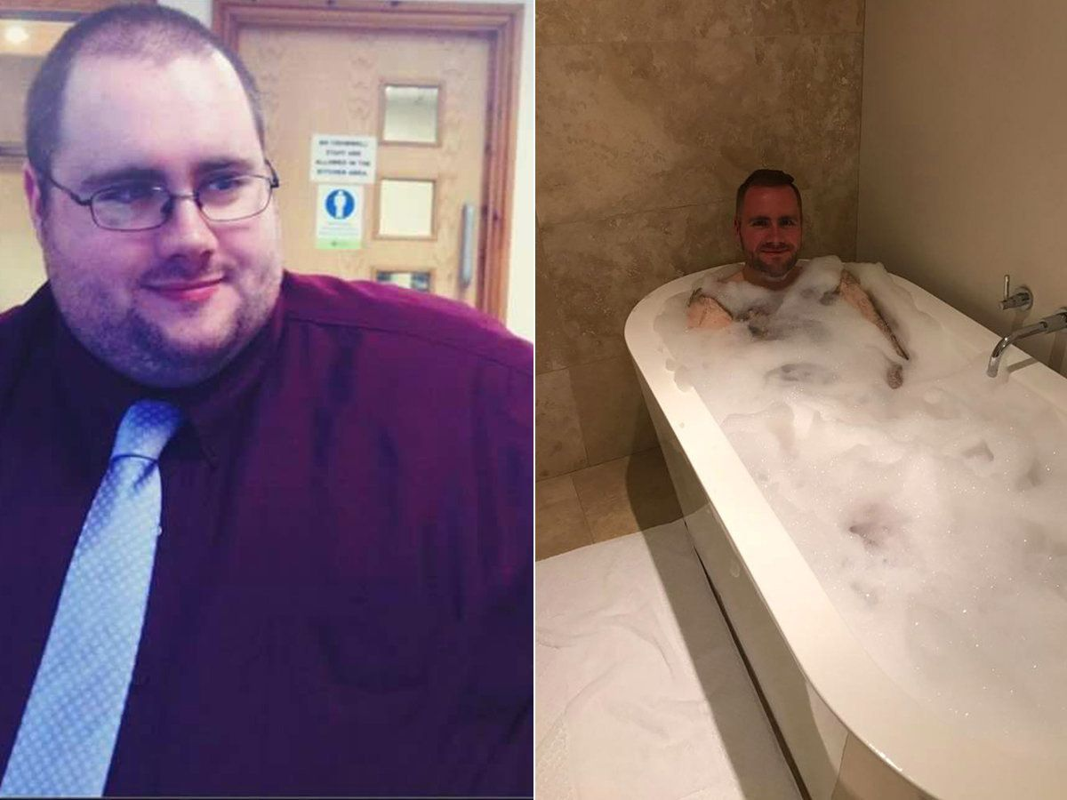 Man Celebrates Having First Bath In 20 Years After Losing An Incredible 14