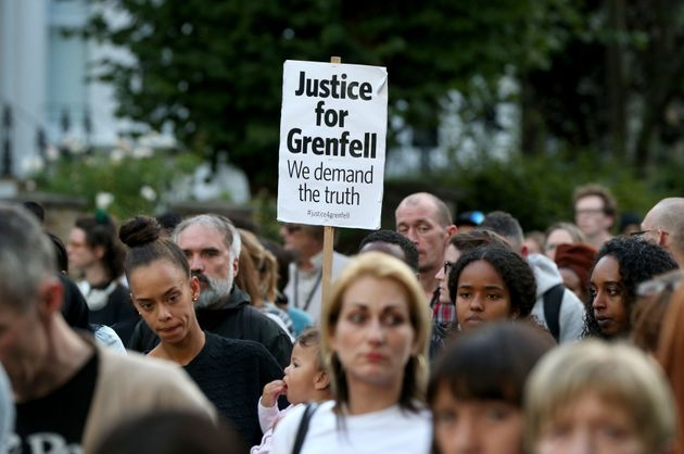 A silent march to pay respect to those killed in the Grenfell Tower disaster begins at Notting Hill Methodist...