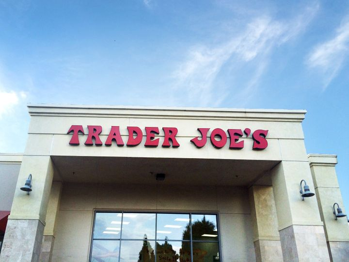 The front entrance of a Trader Joe's in Santa Maria, CA.