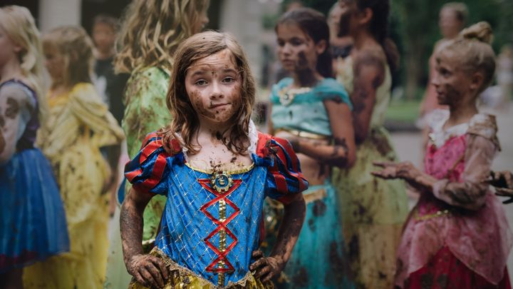Photographer Kate Parker captured this photo of her daughter dressed as Snow White and covered in mud.