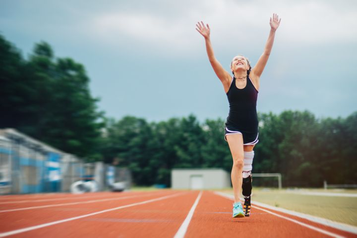 Parker told HuffPost Grace is undergoing treatment for osteosarcoma while still training for a 5K.