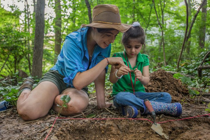 Griffiths captured a teaching moment between an archaeologist from the National Museum of Natural History and her eager student.