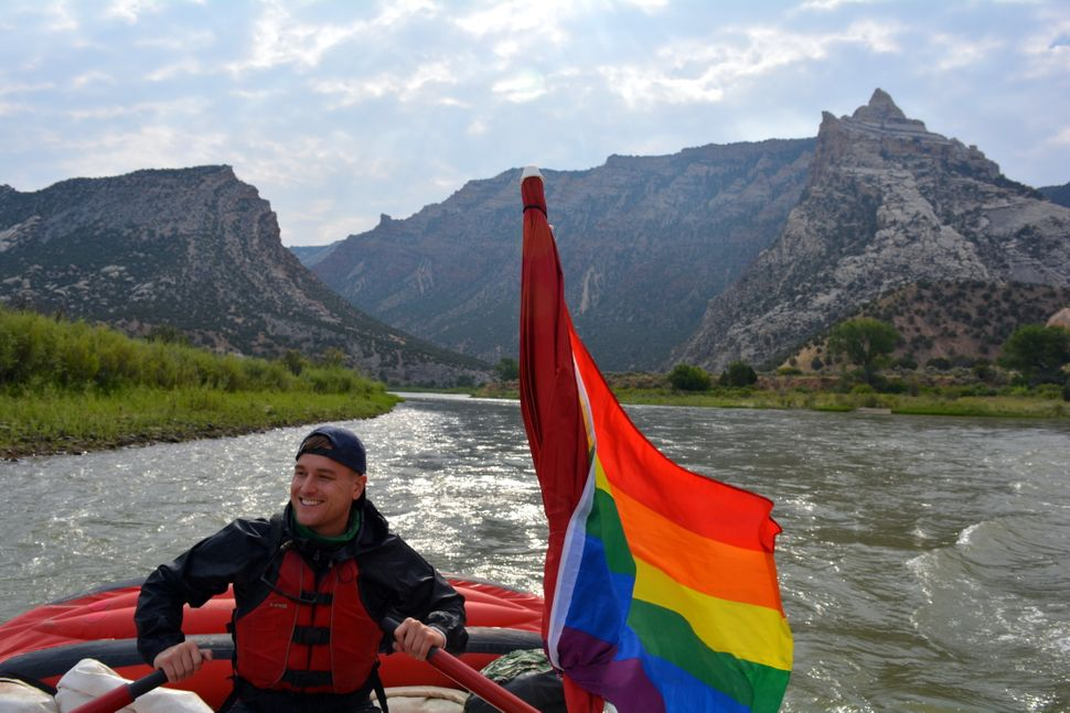 """Meyer rows at Utah's Dinosaur National Monument.""""It's the most challenging thing I've ever done in my life, and a"""