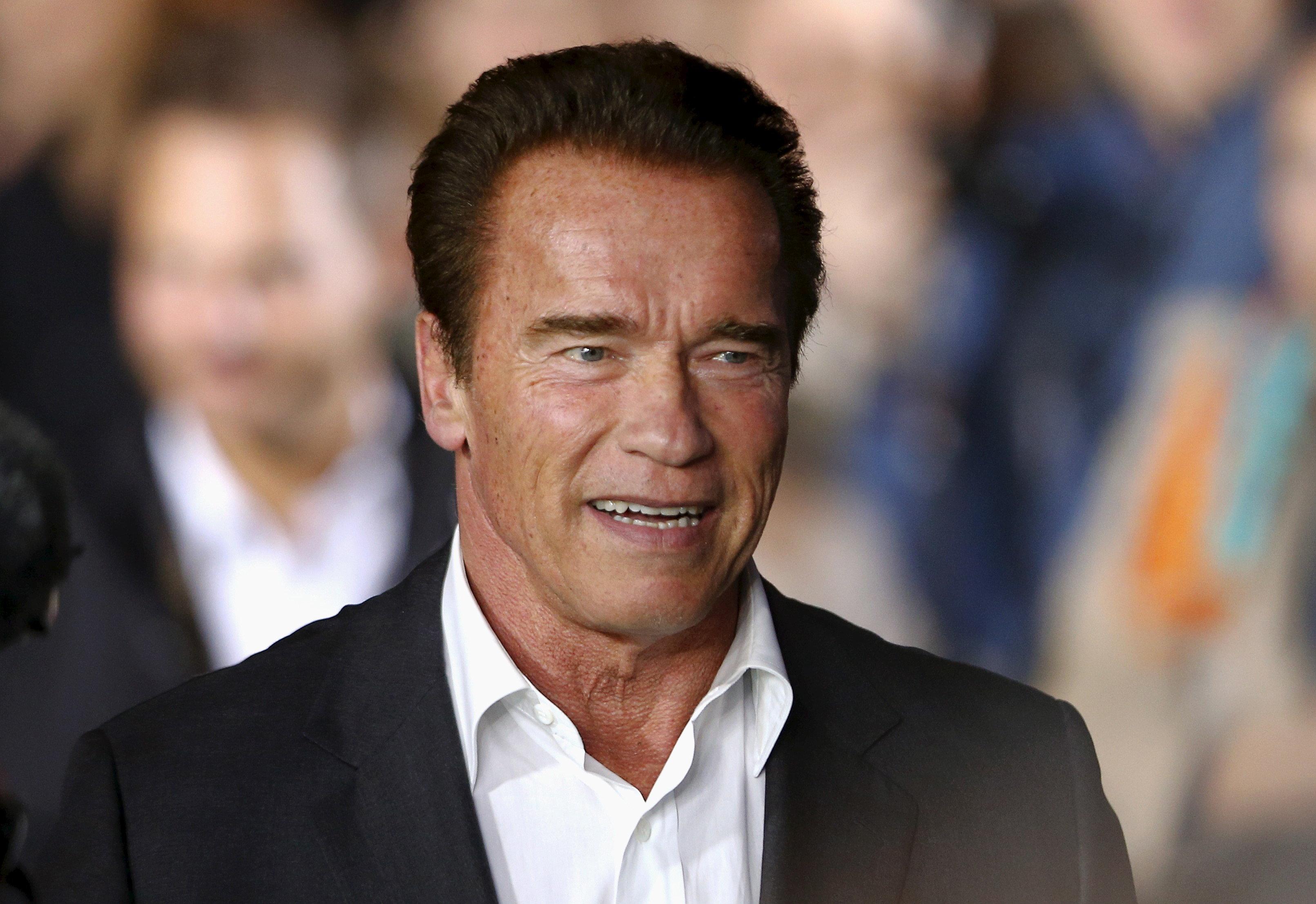 Austrian-born actor Arnold Schwarzenegger arrives before the award ceremony for the Golden Icon Award at the Zurich Film Festival in Zurich, Switzerland, September 30, 2015. REUTERS/Arnd Wiegmann