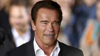 Austrian-born actor Arnold Schwarzenegger arrives before the award ceremony for the Golden Icon Award at the Zurich Film Festival in Zurich, Switzerland, September 30, 2015. REUTERS/Arnd Wiegmann