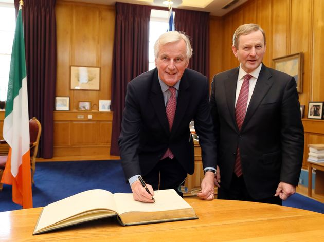 """Michel Barnier visited Ireland in May and vowed to work with the country""""to avoid a hard..."""