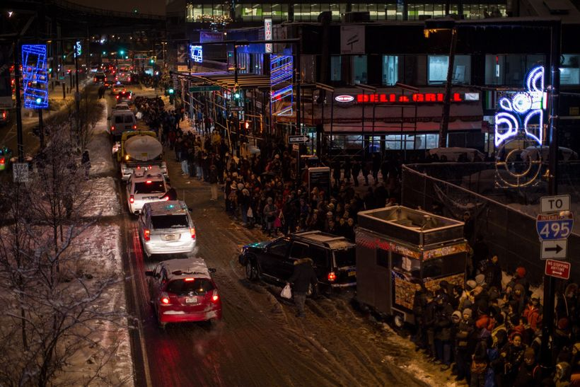 During rush hour on February 2, 2015, hundreds of people were left stranded at Queensboro Plaza due to train delays.
