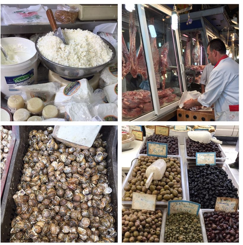 Athen's Central Market is filled with fresh fish, feta cheese and olives.