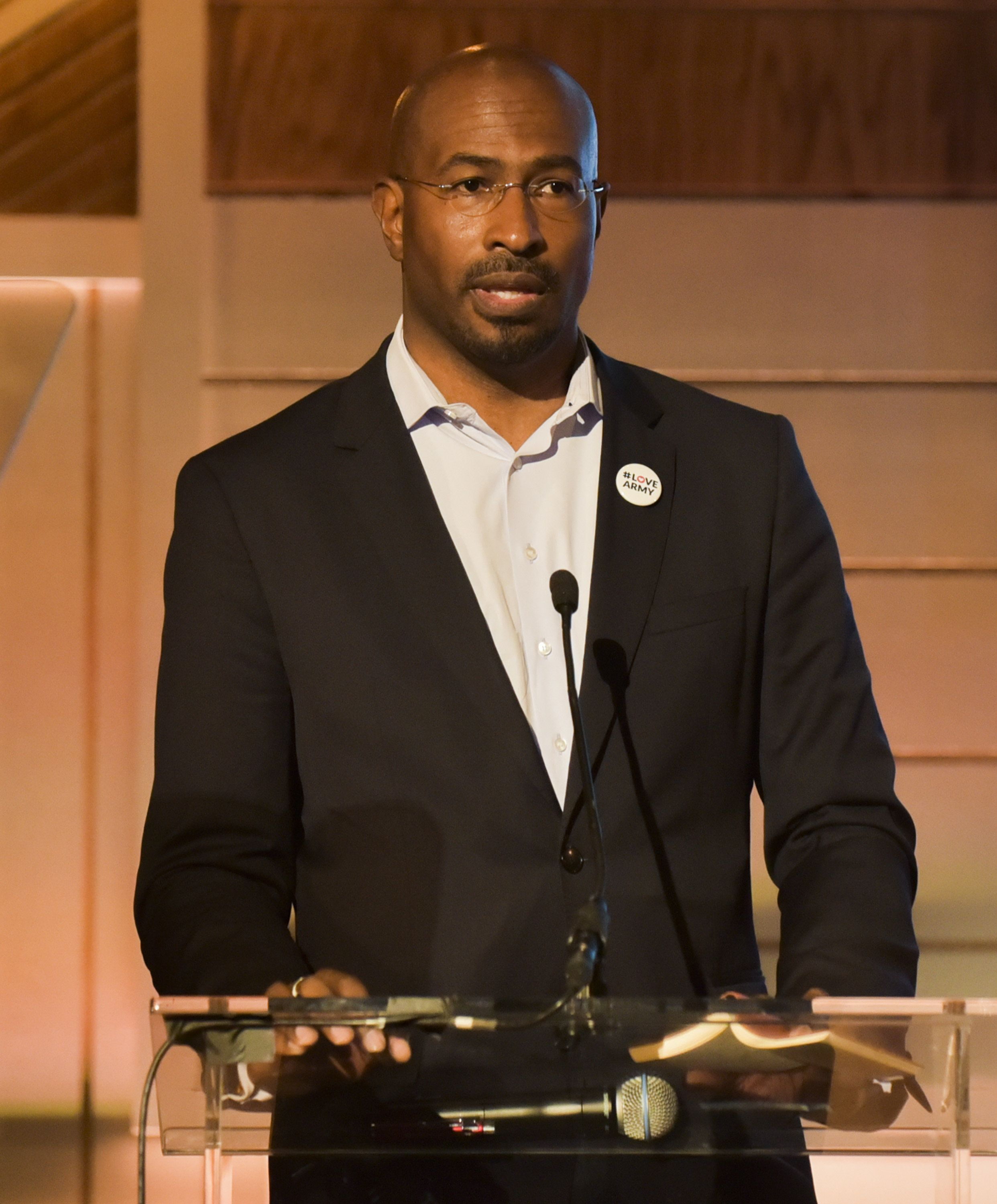 BEVERLY HILLS, CA - MARCH 23:  CNN Contributer and Dream Corps Co-Founder and President Van Jones speaks onstage at the EMA Impact Summit at Montage Beverly Hills on March 23, 2017 in Beverly Hills, California.  (Photo by Rodin Eckenroth/Getty Images)