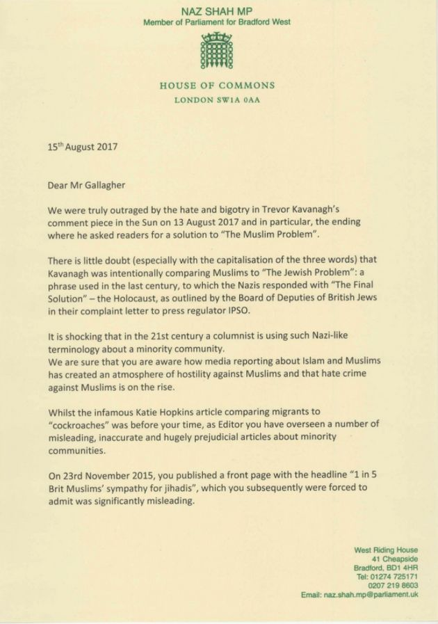 More than 100 MPs have signed an open letter to The Sun demanding