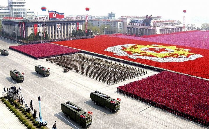 <em>Military Parade in Pyongyang</em>