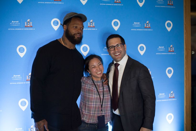 <em>Adam Schefter featured at Marriott Rewards Super Bowl LI Event, February 2017</em>
