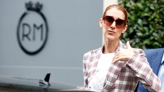 Celine Dion leaves the hotel Royal Monceau in Paris, France, on July 20, 2017. (Photo by Mehdi Taamallah/Nurphoto)