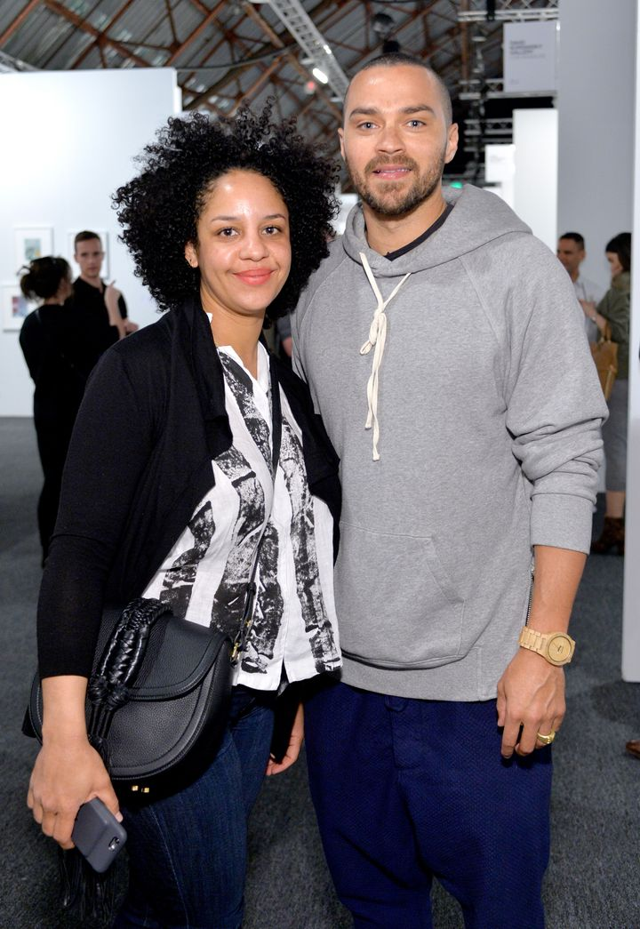 Aryn Drake-Lee and actor Jesse Williams together in 2016.