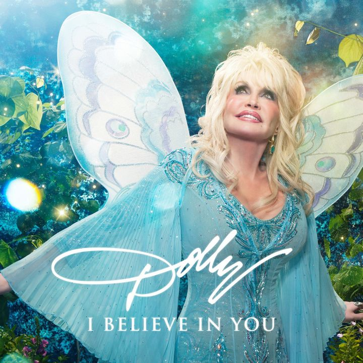 "Parton revealed the cover of her upcoming children's album, entitled ""I Believe In You."""