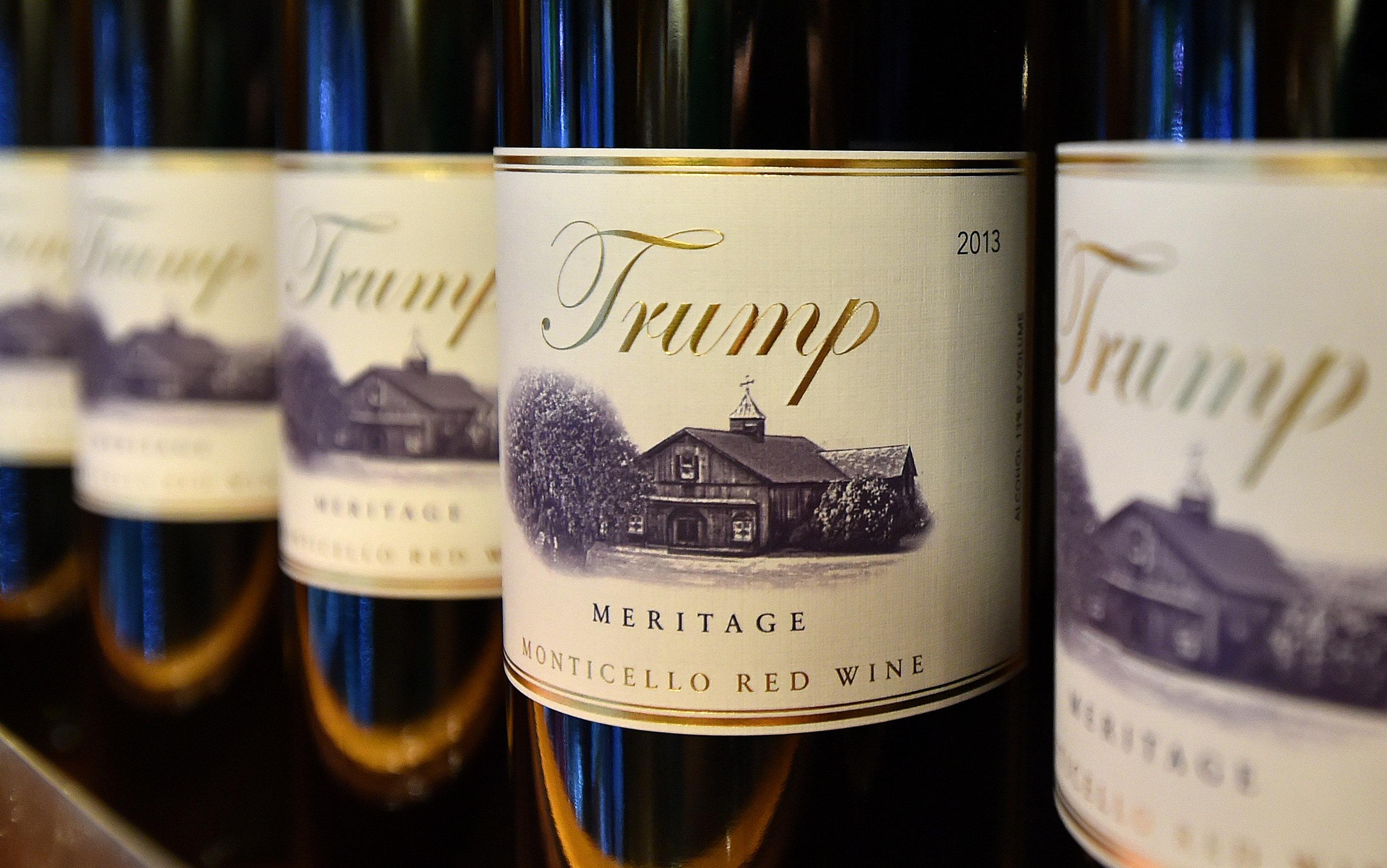 Trump brand wine is seen inside the Trump International Hotel in Las Vegas, Nevada on Feb. 23, 2016.
