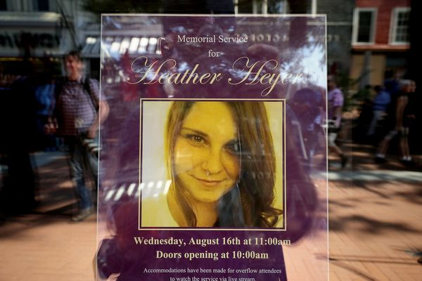 A poster announcing the memorial service.