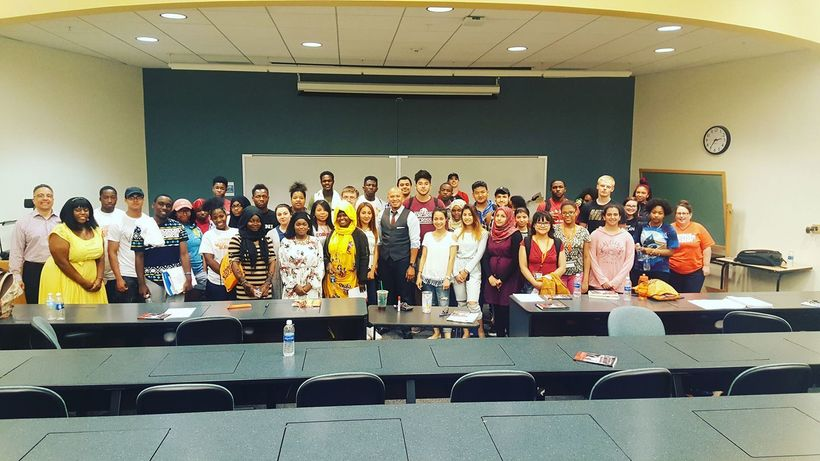 Emad Rahim served as keynote speaker and mentor for the Summer Bridge Program at SUNY Onondaga Community College