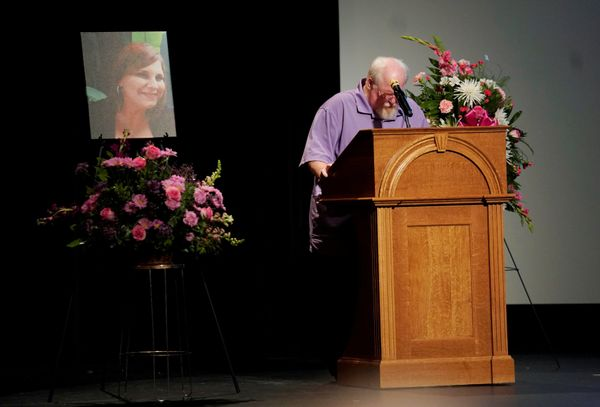 Heather Heyer's father, Mark Heyer, speaks at her memorial service.