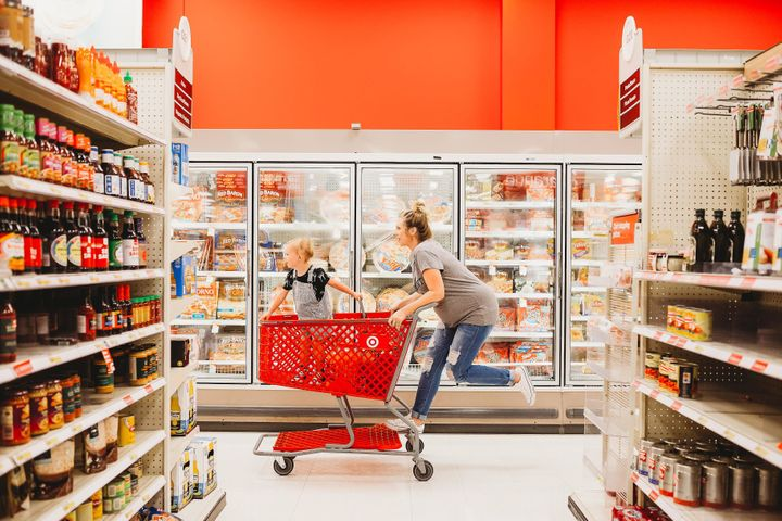"""""""Just walking in the door makes you feel happy. Everything is bright and happy feeling,"""" Miller said of Target"""