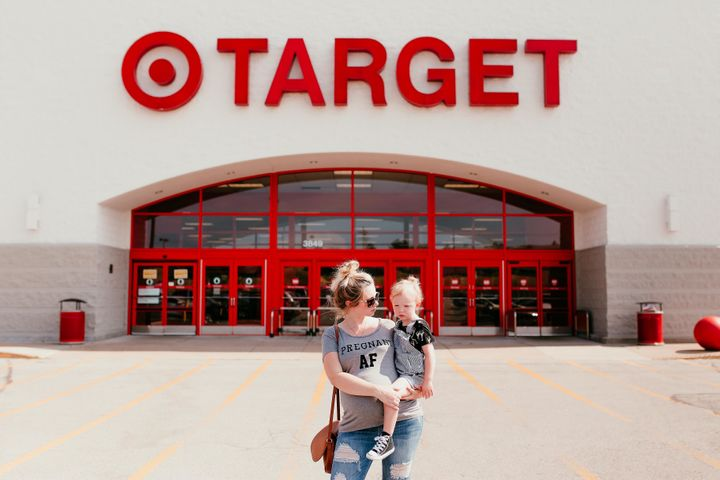 The photo shoot took place on a Sunday evening in late July at the Target in Arnold, Missouri.