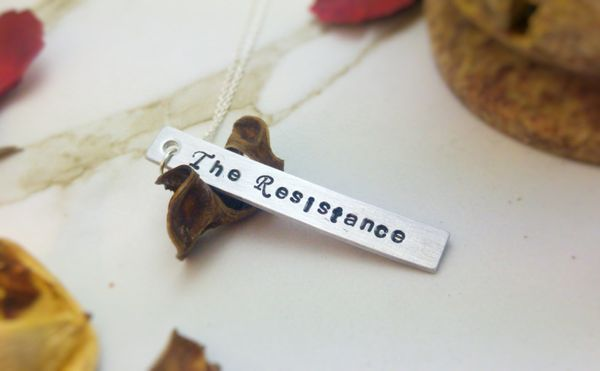 "<a href=""https://www.etsy.com/listing/494128180/the-resistance-hand-stamped-necklace?ga_order=most_relevant&ga_search_typ"