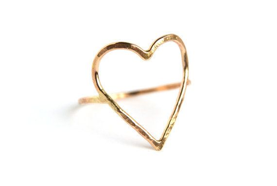 "<a href=""https://www.etsy.com/listing/508811435/hammered-open-heart-ring-bright-or?ga_order=most_relevant&ga_search_type="