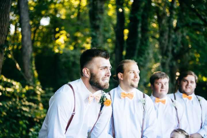 Groom Micah Baker's reaction to seeing his bride Bailey couldn't be sweeter.