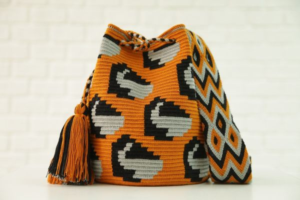 "These gorgeous, fair trade bags are handmade by indigenous tribes from Colombia. Shop them <a href=""https://chilabags.co"