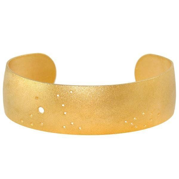 "These cuffs are etched with each sign's unique constellation pattern. Shop them <a href=""https://www.ahalife.com/product"