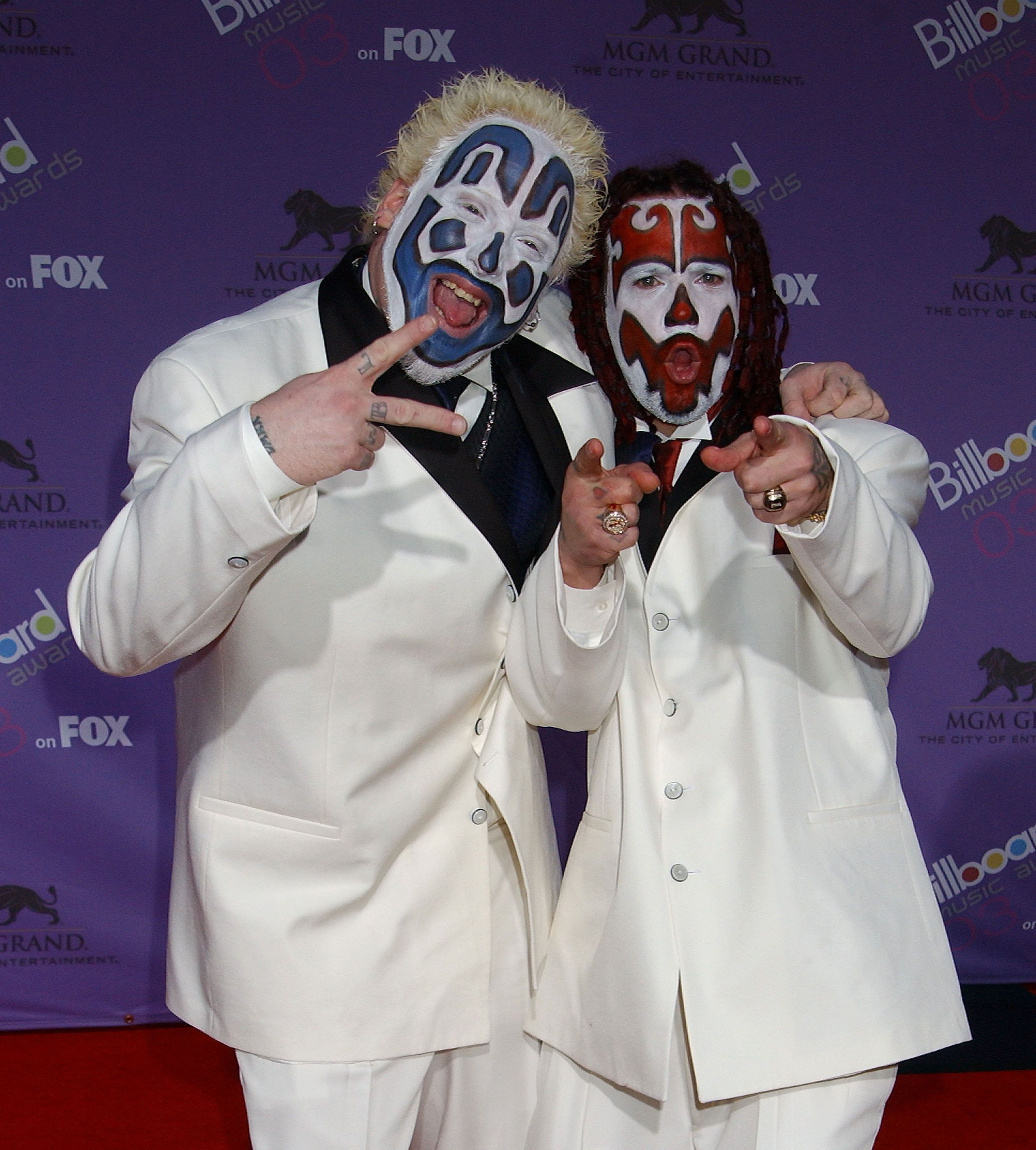 "The hip-hop duo Insane Clown Posse, pictured, is planning a Washington, D.C., march with its fans, known as ""Juggalos,"" on th"