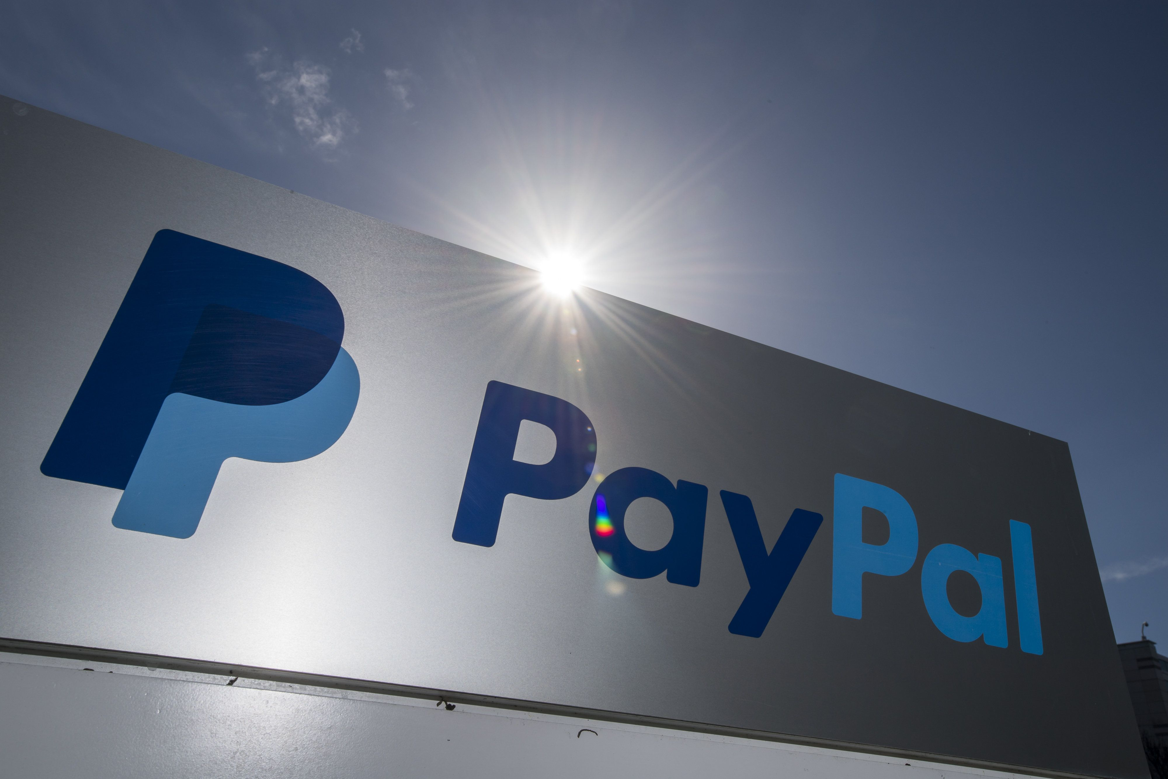 PayPal Holdings Inc. signage is displayed outside the company's headquarters in San Jose, California, U.S., on Tuesday, Jan. 24, 2017. PayPal Holdings Inc. is scheduled to release earnings figures on January 26. Photographer: David Paul Morris/Bloomberg via Getty Images