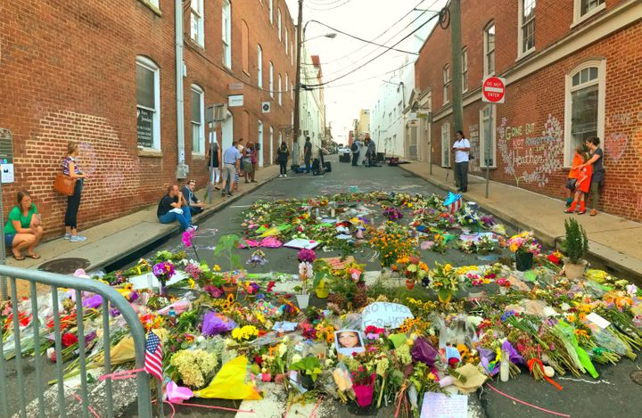 The site of the deadly attack during the white supremacist rally on Saturday.