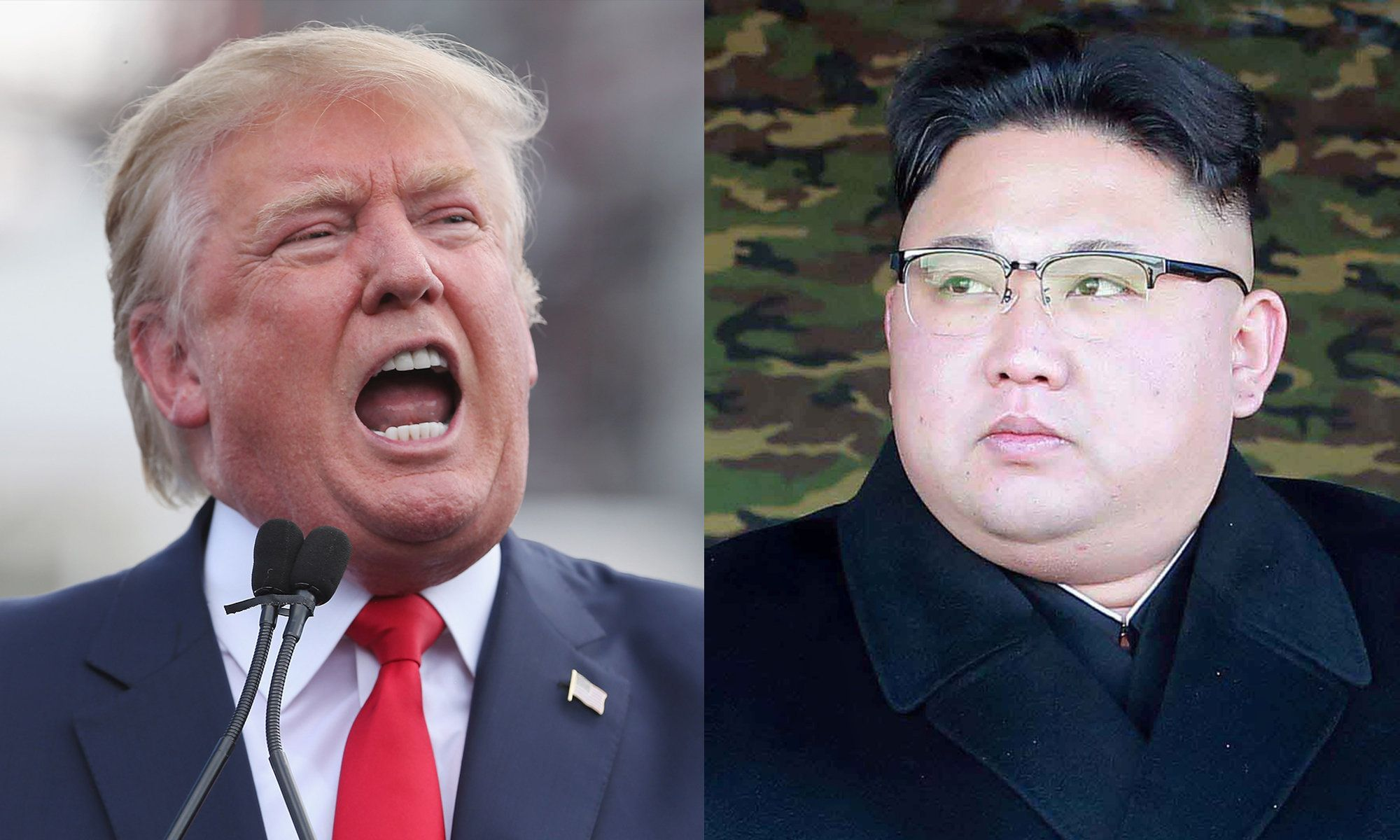 U.S. President Donald Trump and North Korea's leader, Kim Jong Un