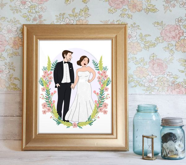 This Etsy shop specializes in custom prints. A perfect option for when you want to give something really personalized. Shop t