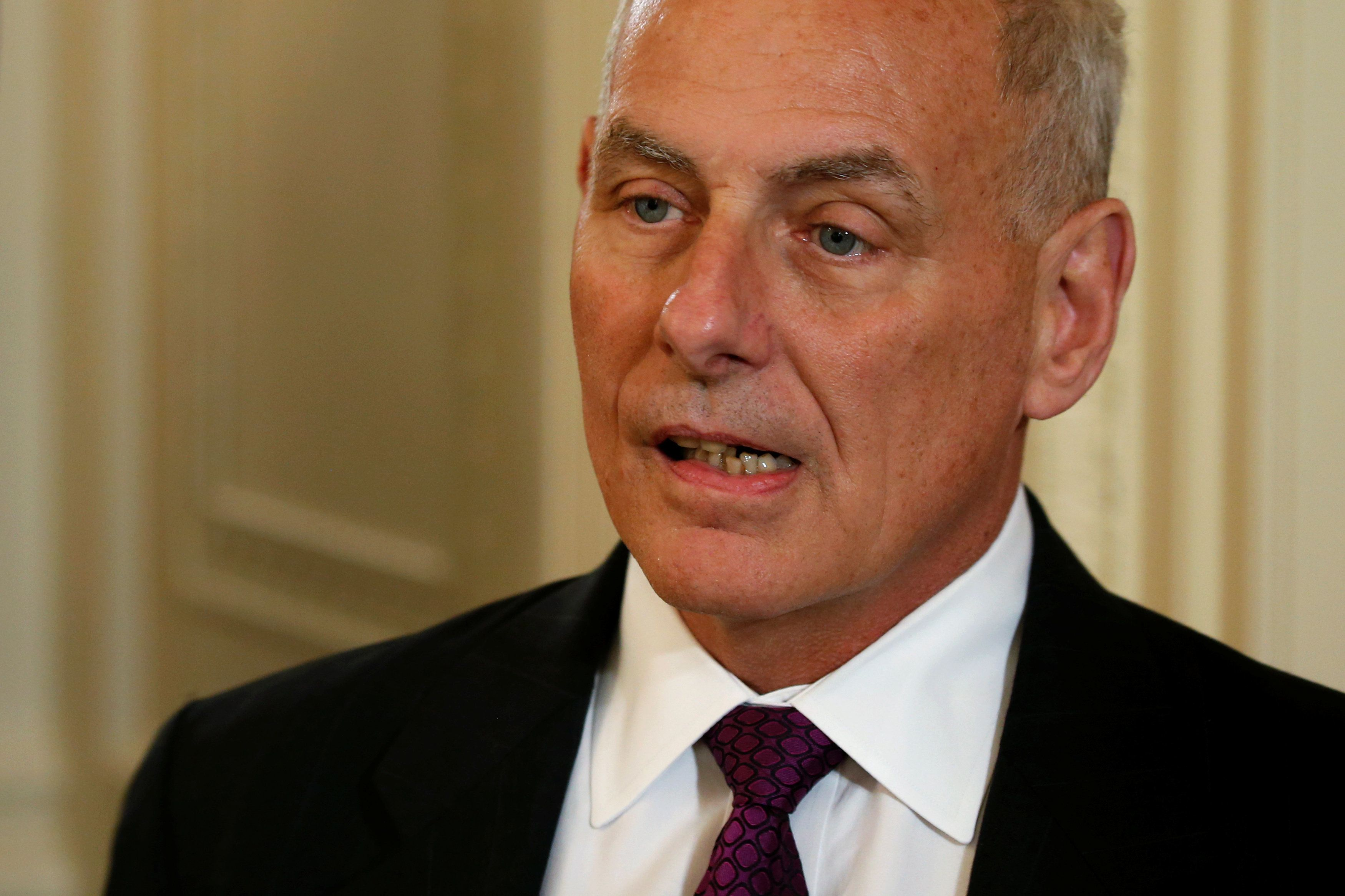 White House Chief of Staff John Kelly arrives for a small business event to be addressed by U.S. President Donald Trump at the White House in Washington, U.S. August 1, 2017.  REUTERS/Jonathan Ernst