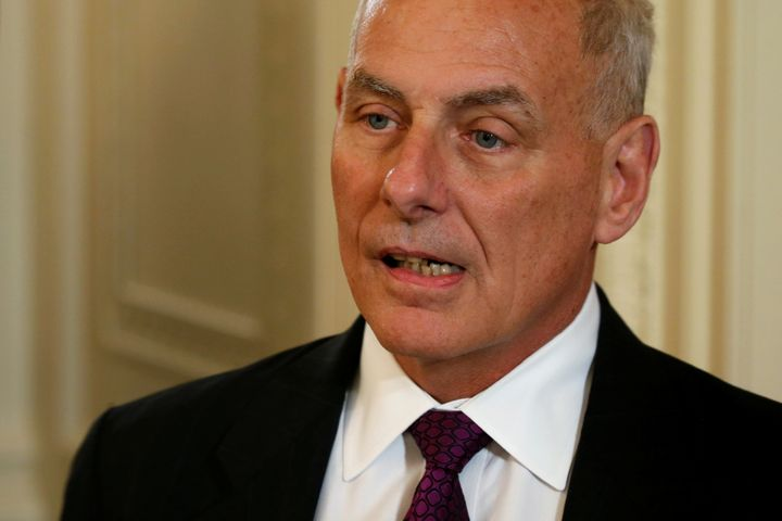 John Kelly, above, replaced Reince Priebus as chief of staffin July 2017.