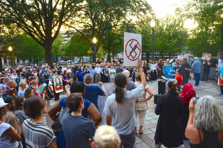 Hundreds of people showed up to show solidarity and unity in response to what happened in Charlottesville over the past weeke