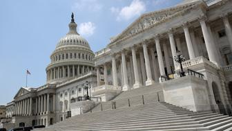 WASHINGTON, DC - AUGUST 03: The Senate side of the US Capitol is shown on the last day of the summer session, August 3, 2017 in Washington, DC. The US Senate is scheduled to return from summer break on September 5.  (Photo by Mark Wilson/Getty Images)