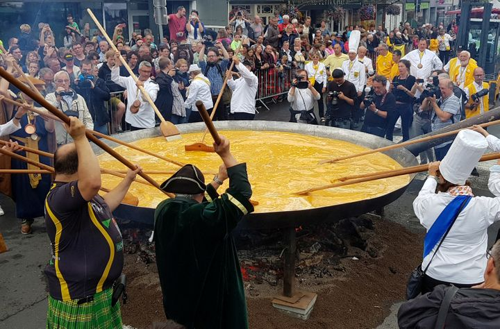 Belgian Town Makes 10,000-Egg Omelet Without Cracking Under Pressure