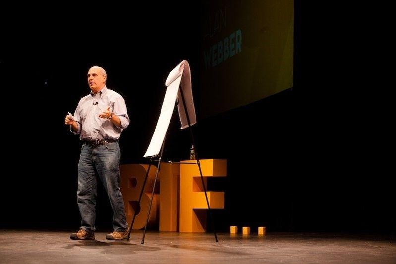 <em>Alan Webber speaking at BIF</em>