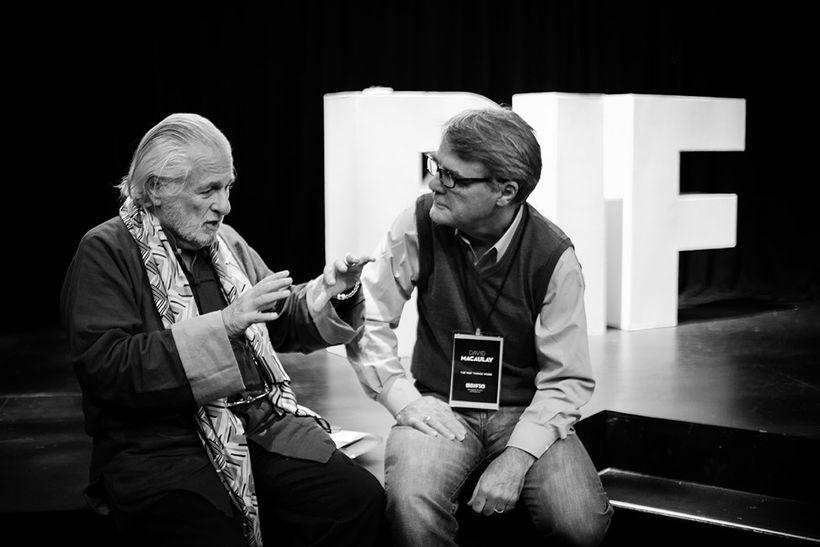 <em>Richard Saul Wurman with David Macaulay at BIF</em>