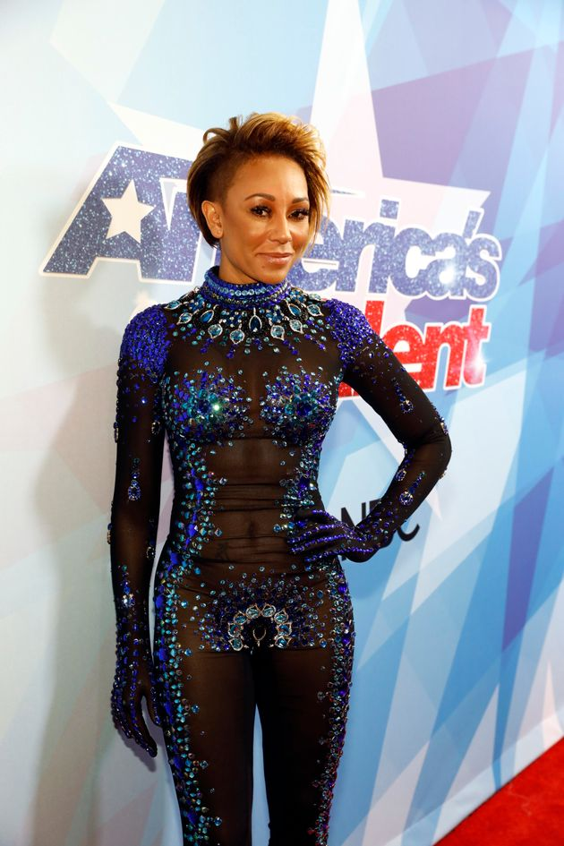 Mel Bs Nearly-Naked Jumpsuit For Americas Got Talent